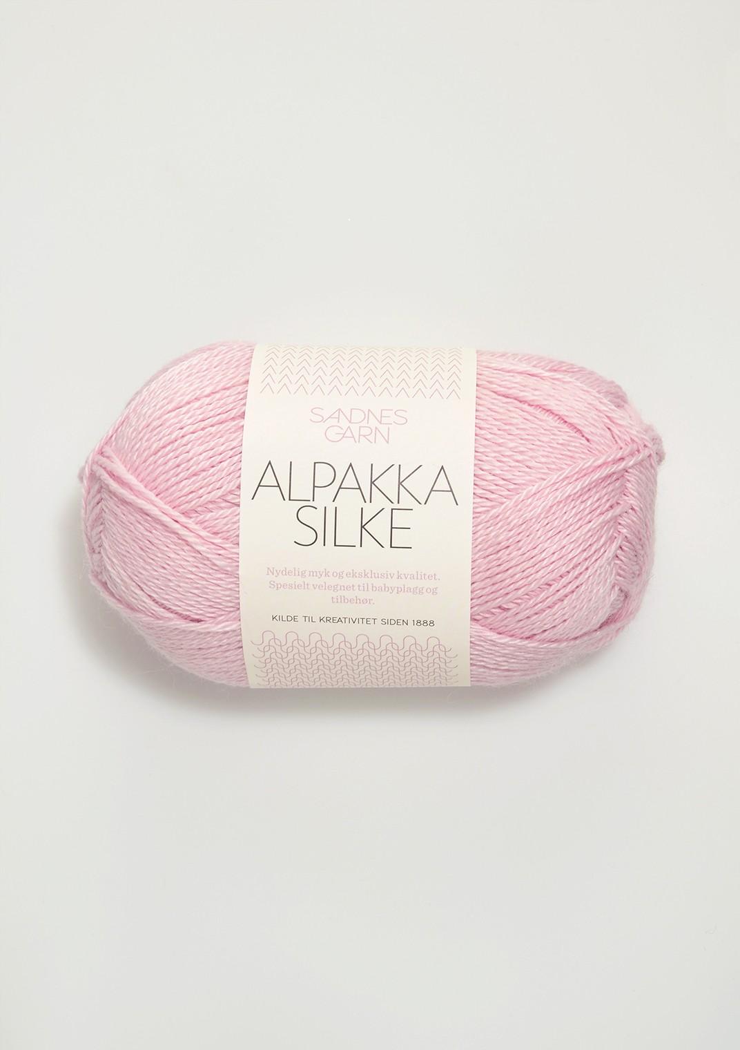 Sandnes alpakka silke rosa 3911