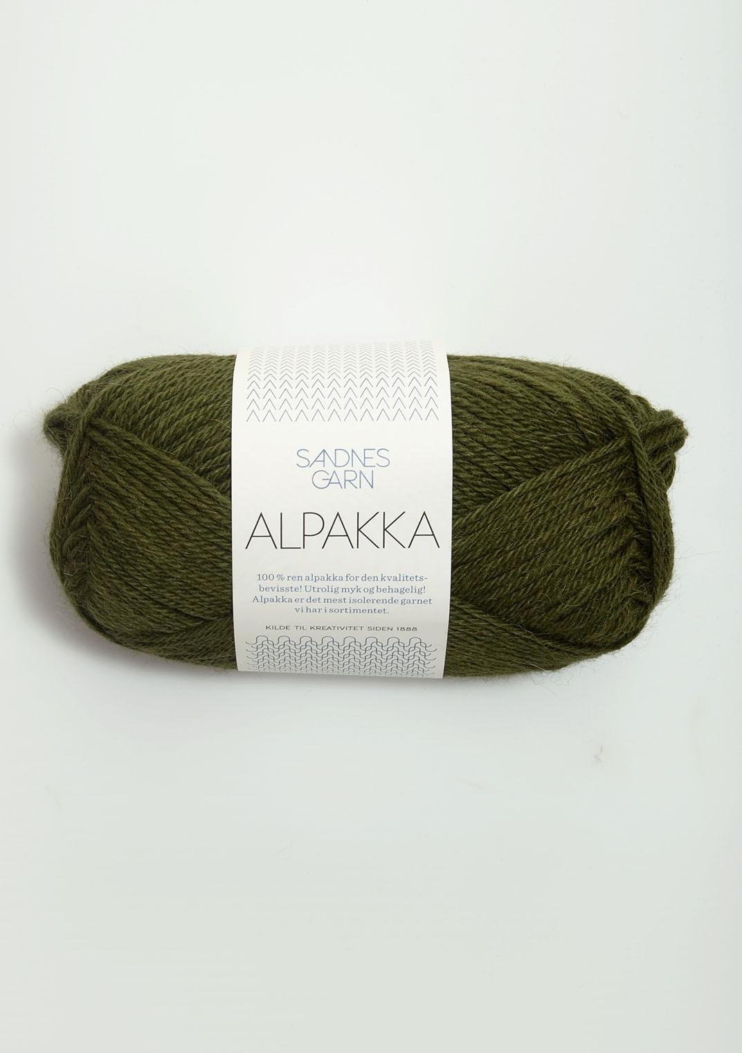 Sandnes alpakka, 9573 Mossgrön