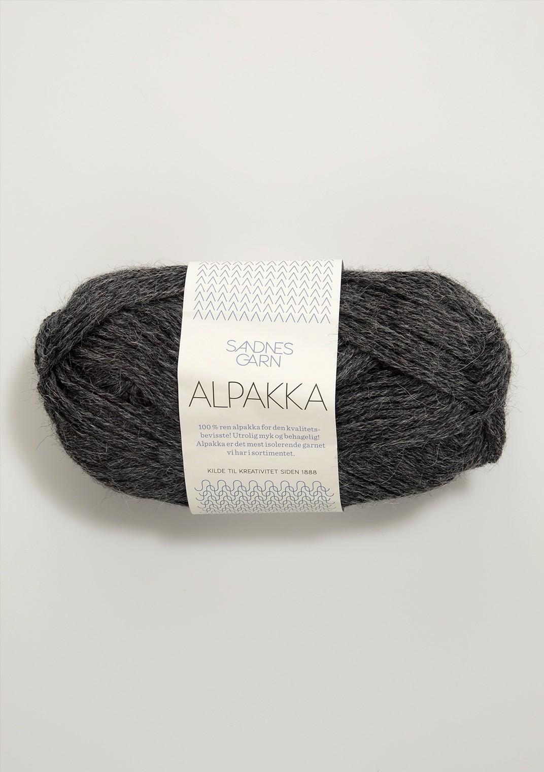 Sandnes alpakka, 1053 mörkgrå melerad