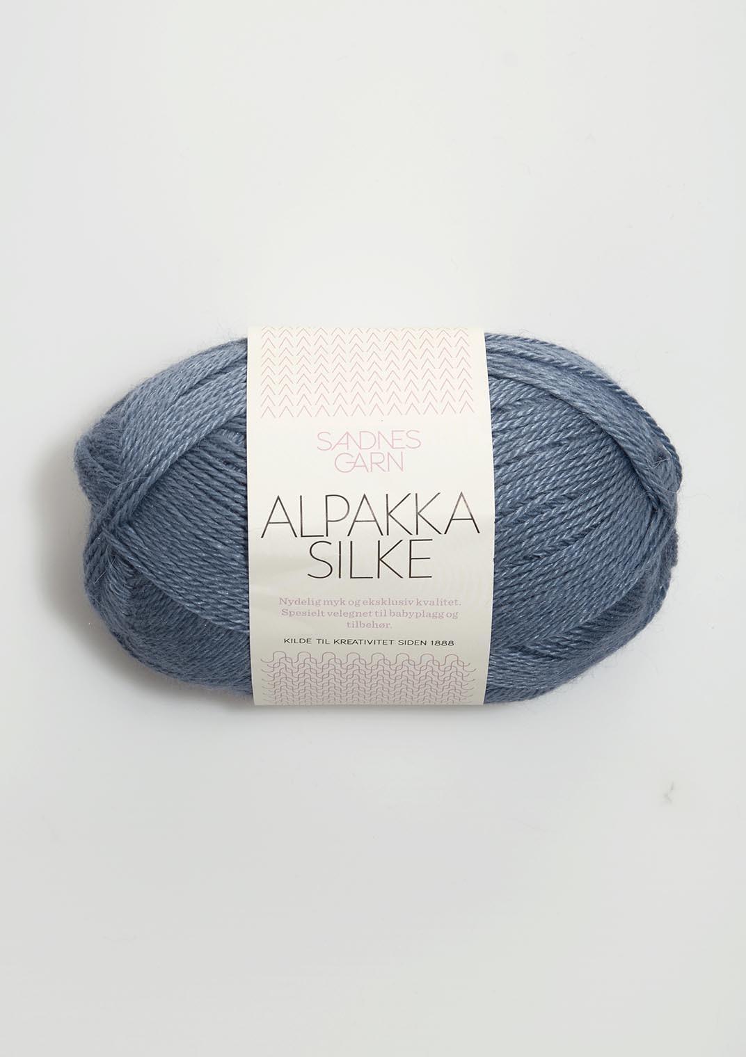 Sandnes alpakka silke jeansblå 6052