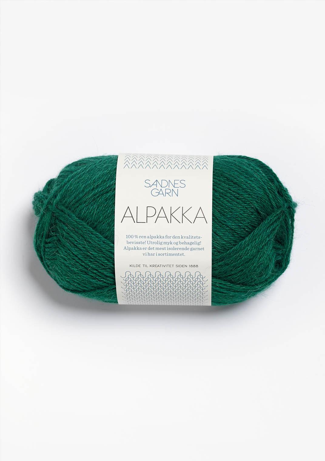 Sandnes alpakka 7755 smaragd