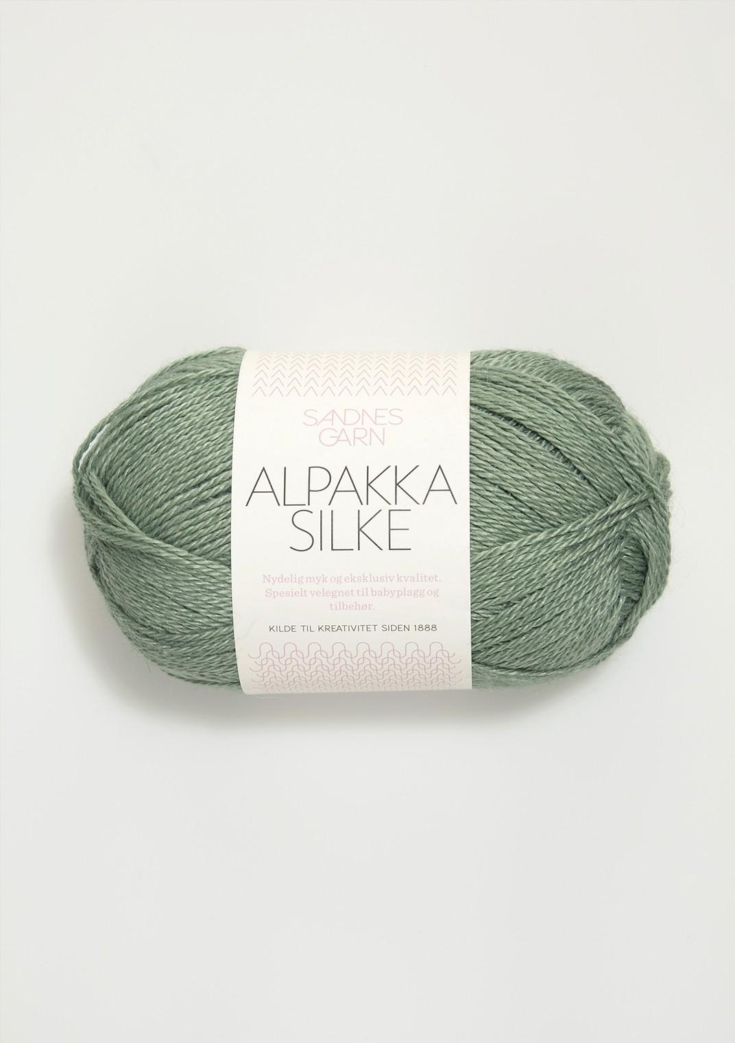 Sandnes alpakka silke, ljusgrön 7741