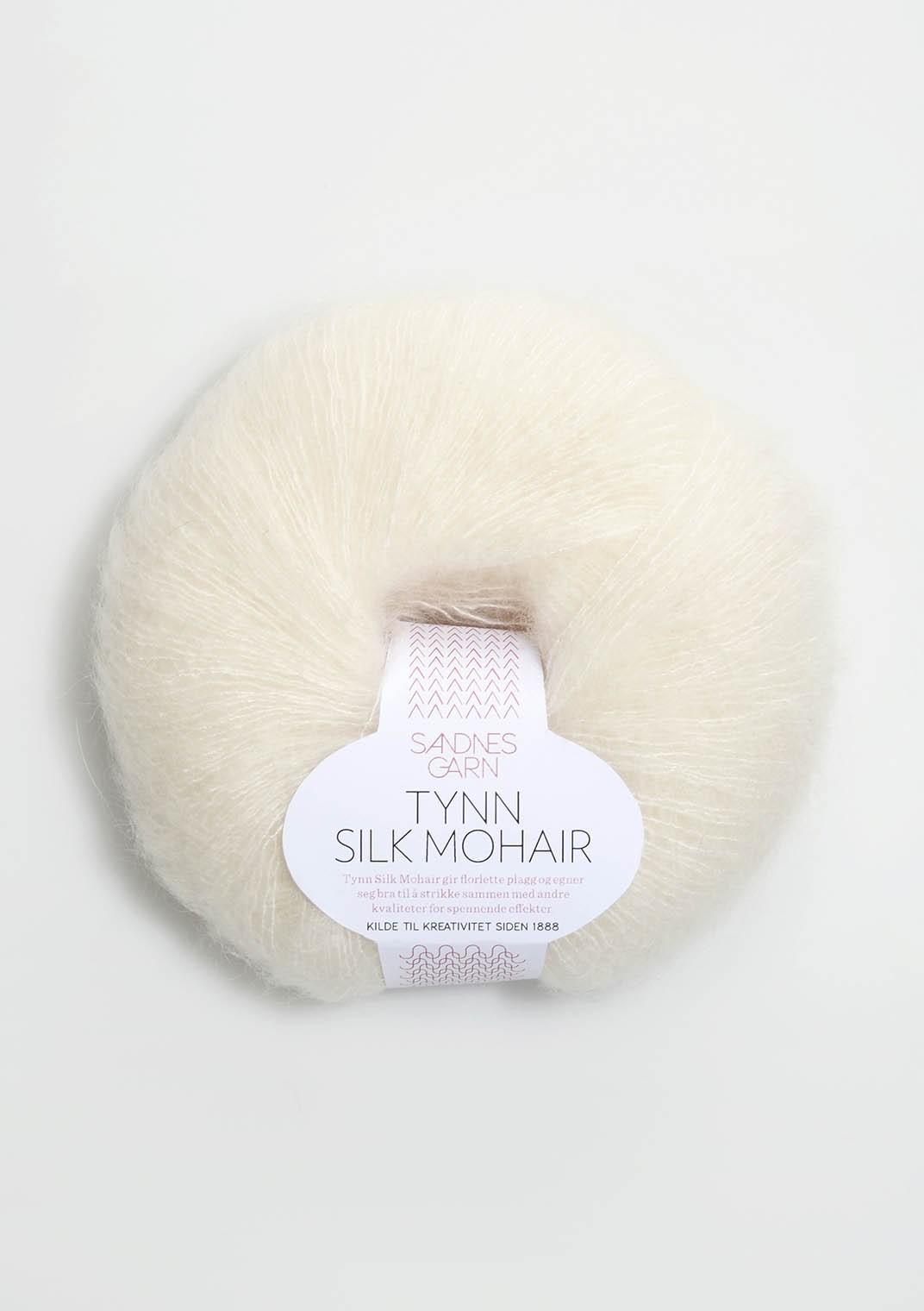 Tynn silk mohair 1012, natur