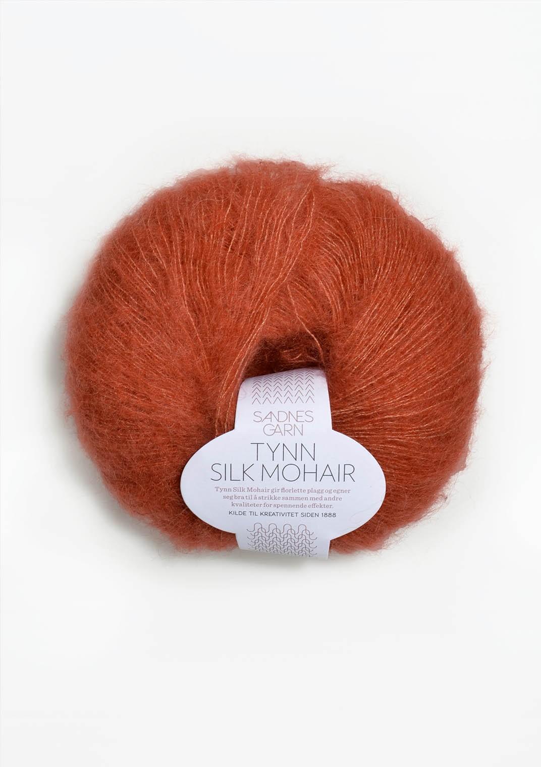 Tynn silk mohair, 3835 terracotta