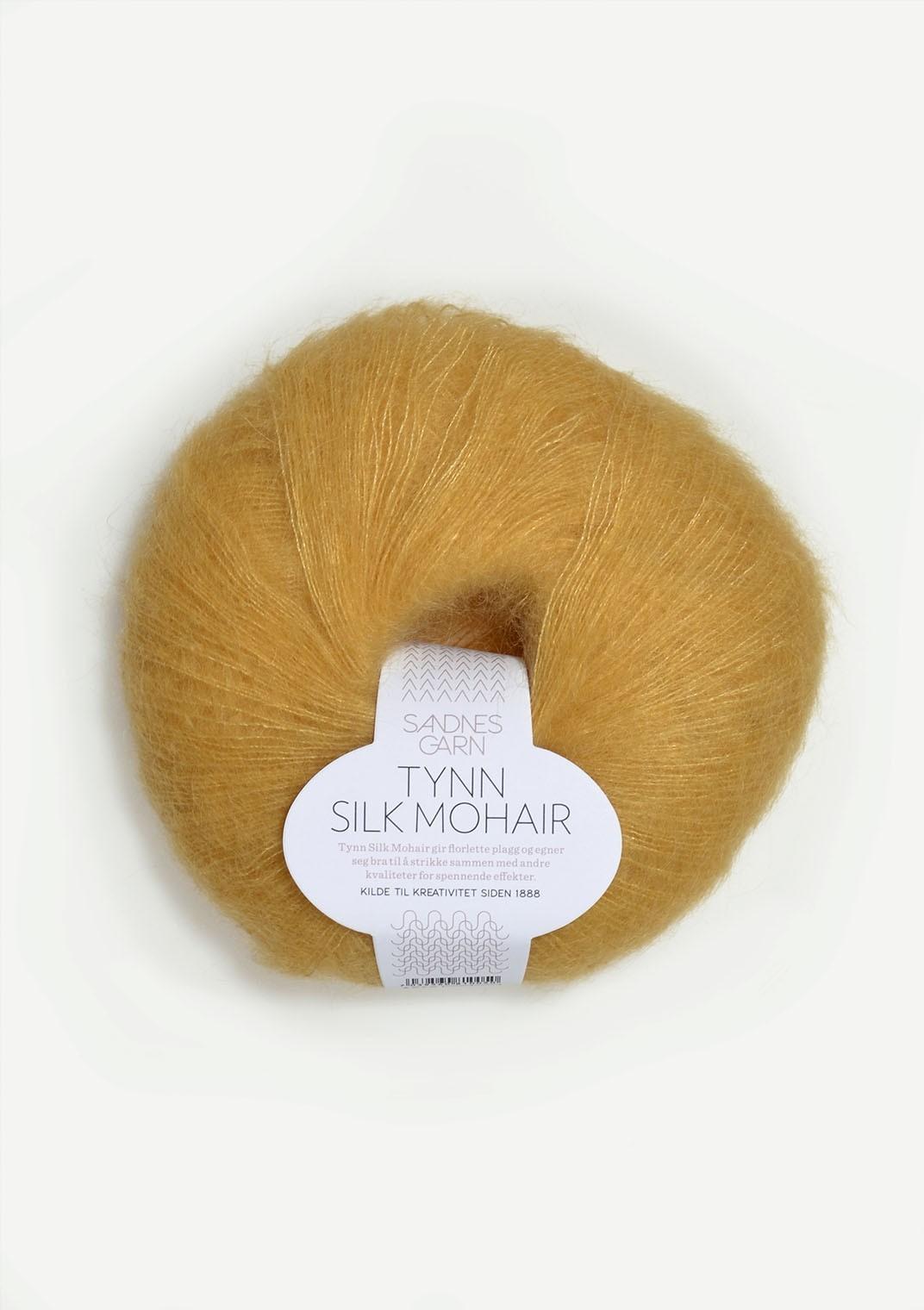 Tynn silk mohair 2113, strågul