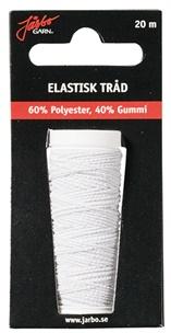 Elastisk tråd, 20 m vit - Elastisk tråd, 20m vit
