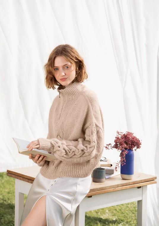 Sandnes 2111 6 sienna zipper genser
