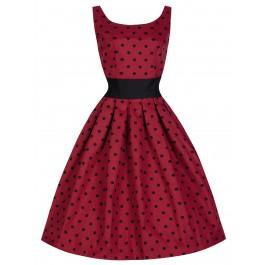 Lana dress   Lindy Boop - Röd/svart, Stl 4XL