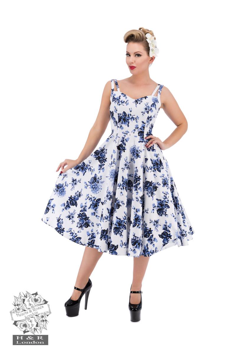 Blå rosklänning
