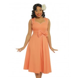 Grace tangerine dress - grace orange stl S