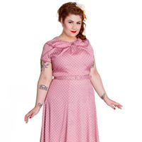 Prickig dress - Prickig rosa stl 4XL