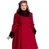 Angelina Coat - Angelina röd stl 3XL