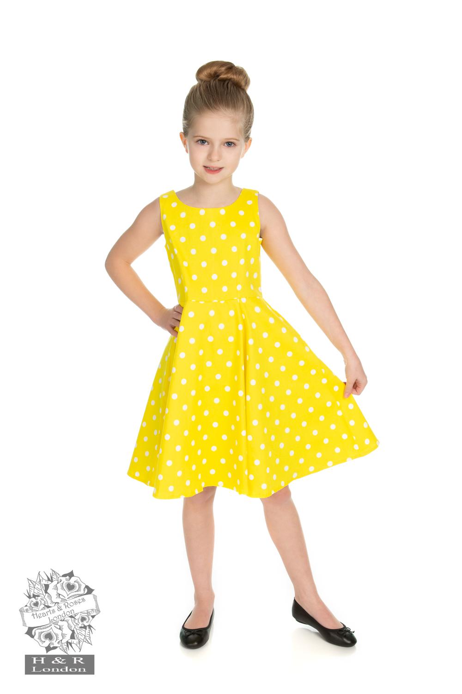 Cindy gul med vita prickar