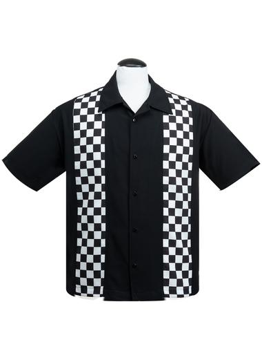pepita skjorta svart/vit