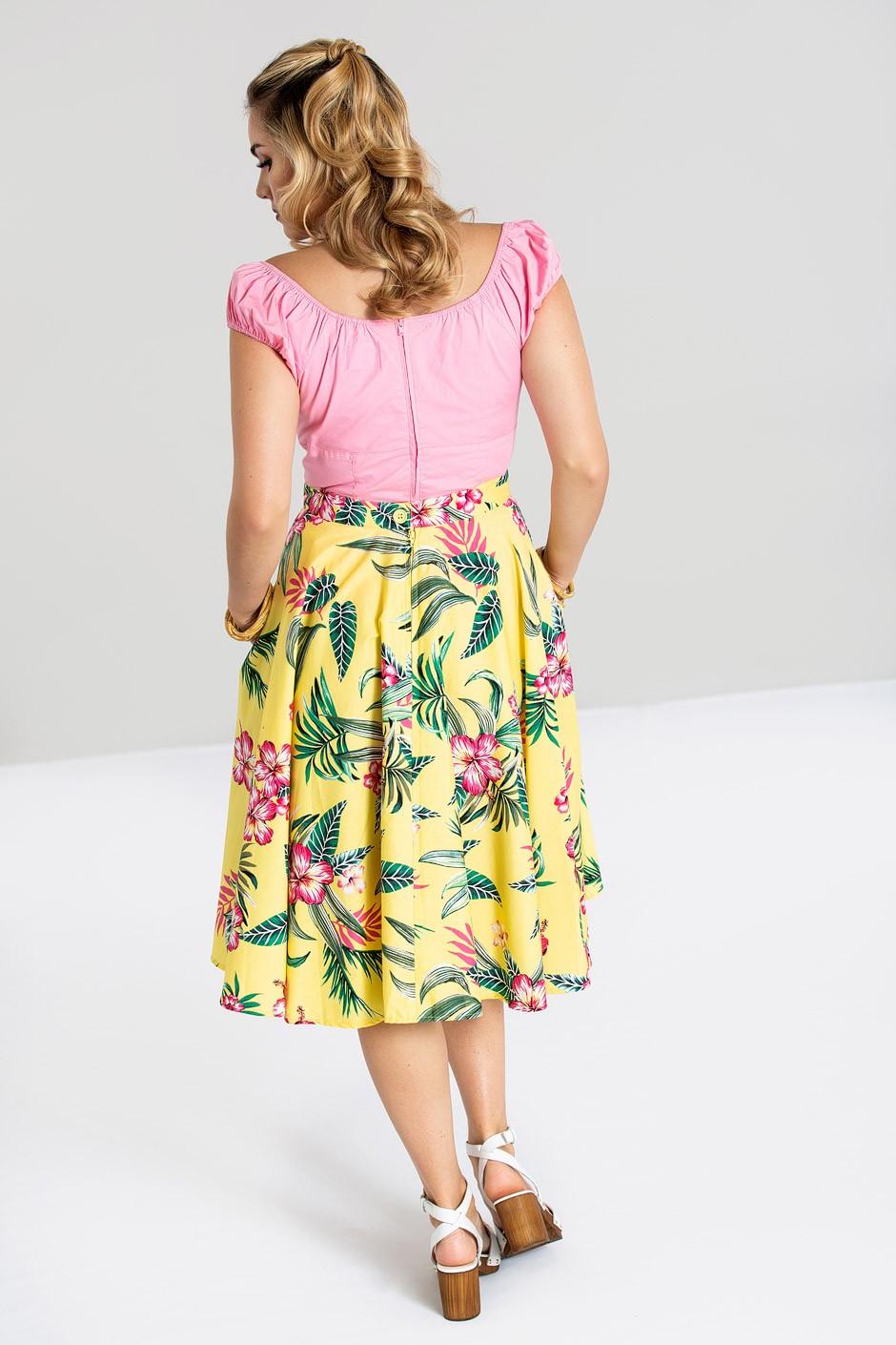 kalani kjol, gul, bak