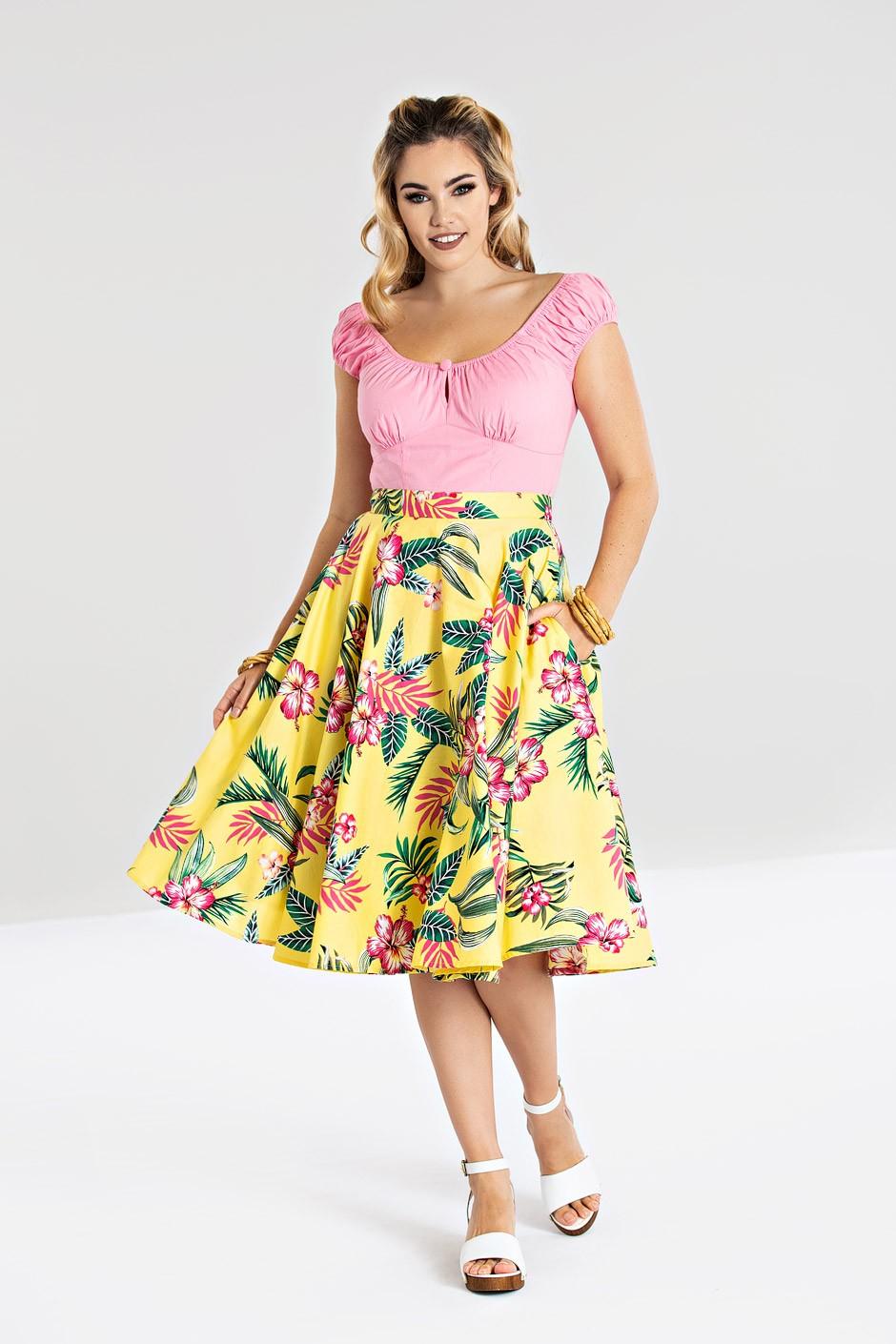 kalani skirt yellow