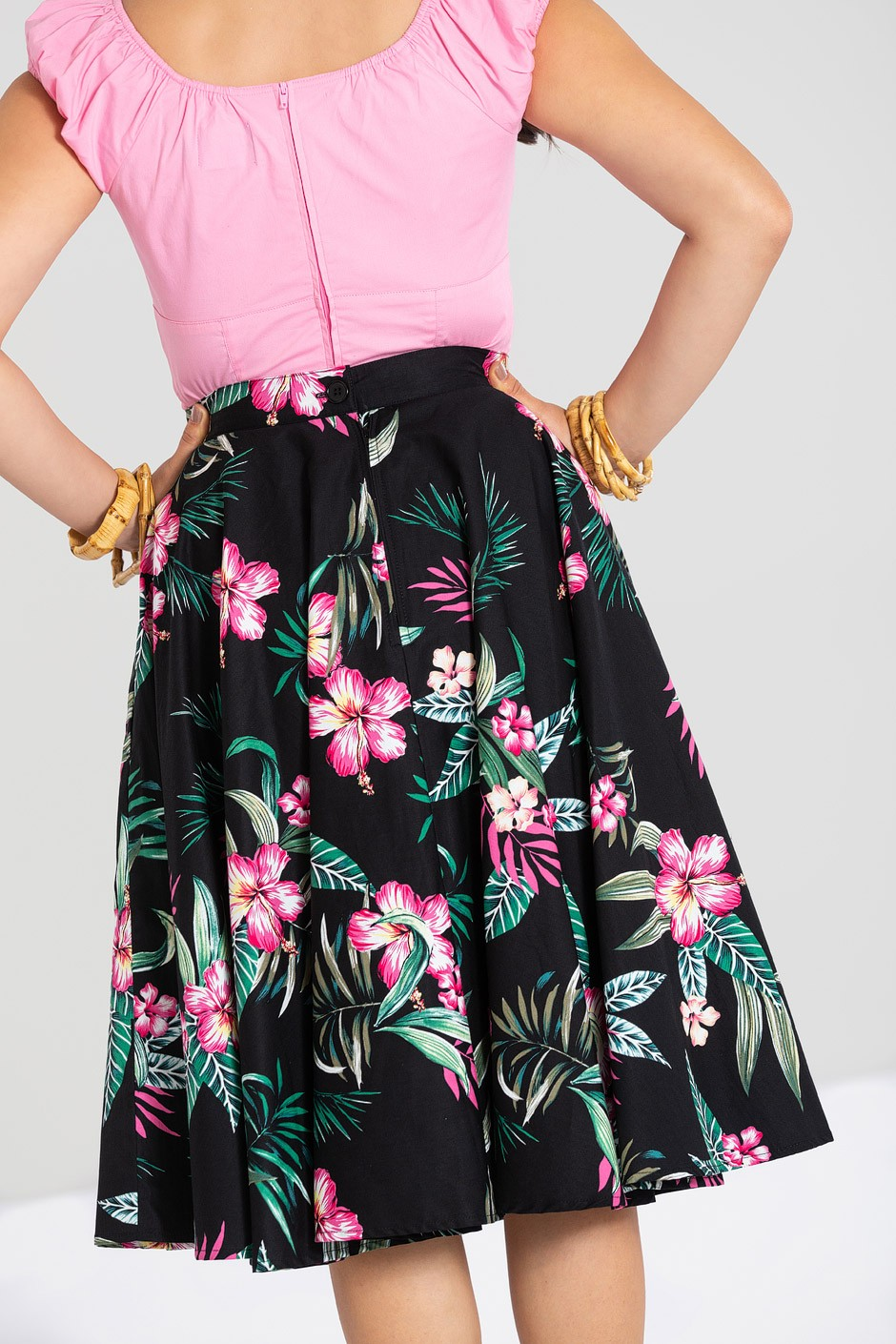 kalani kjol, svart, bak