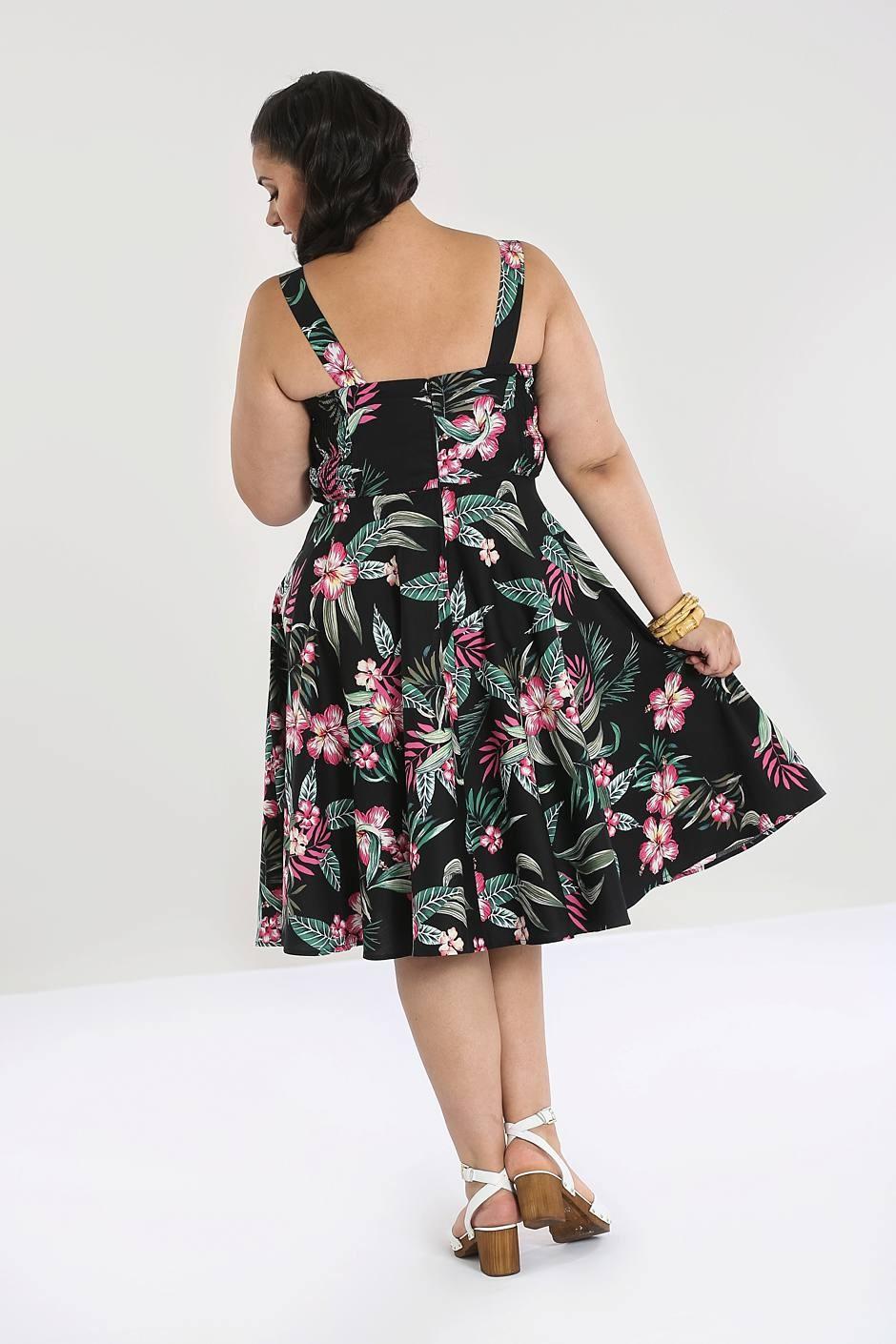 kalani-50s klänning bak