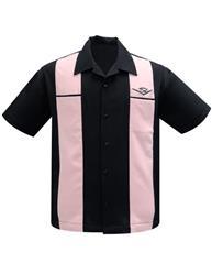 Classic Cruising med Cadillac märket - classic cruising skjorta sv/rosa stl XS