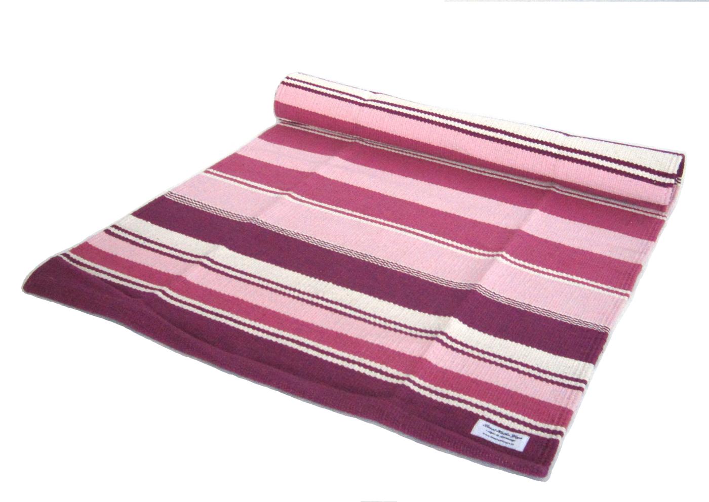 Yogamatt rosa-lila-vit randig ca 195 cm
