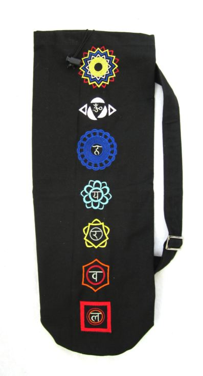 Yogaväska svart chakra