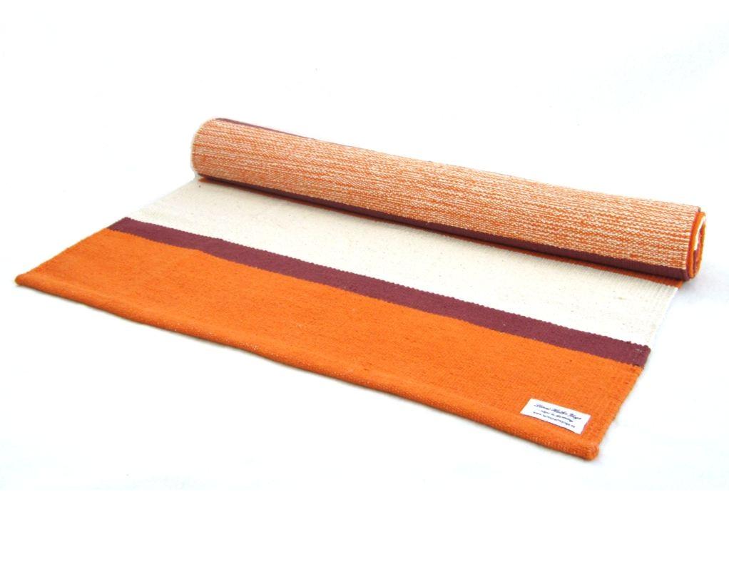 Yogamatta orange randig ca 203 cm