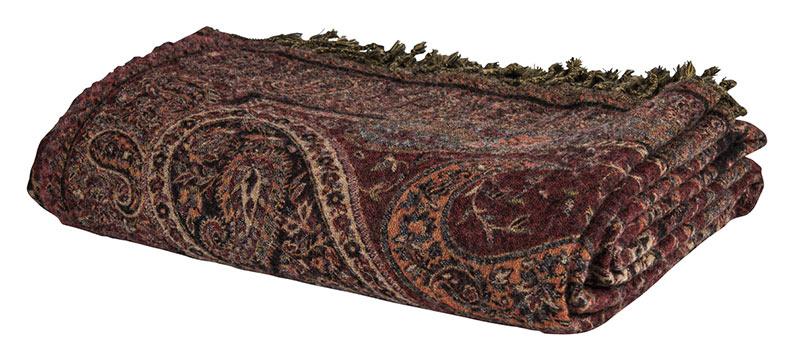 throw paisley chocolate folded