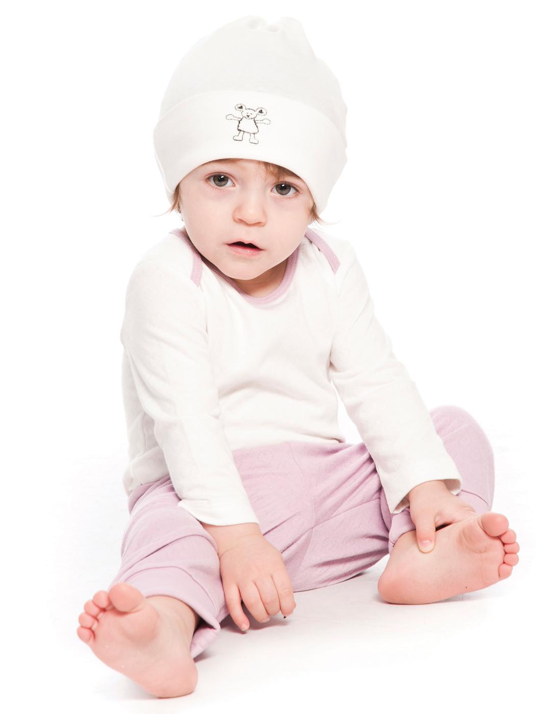 Byxor barn vita tunna