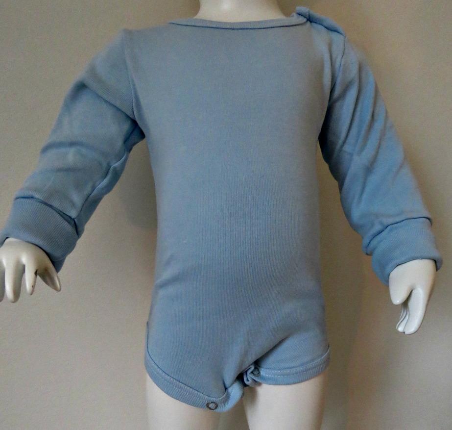 Body ljusblå långärmad