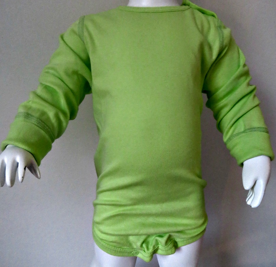 Body långärmad Lime