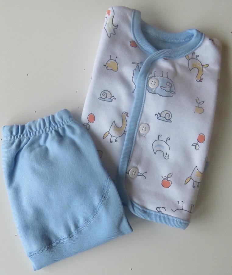 Babyset vändbar jacka Ljusblå