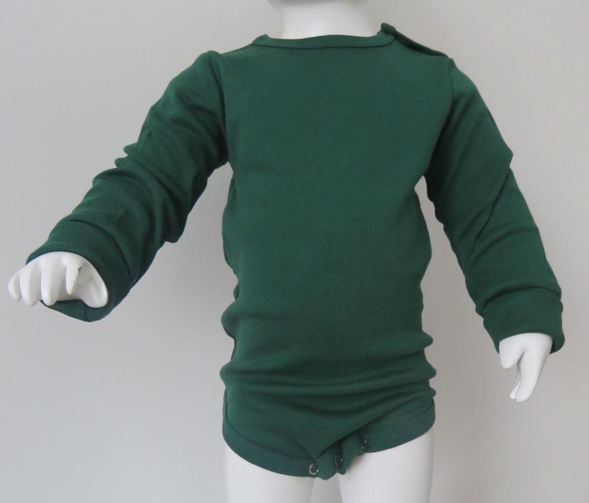 Body långärmad buteljgrön