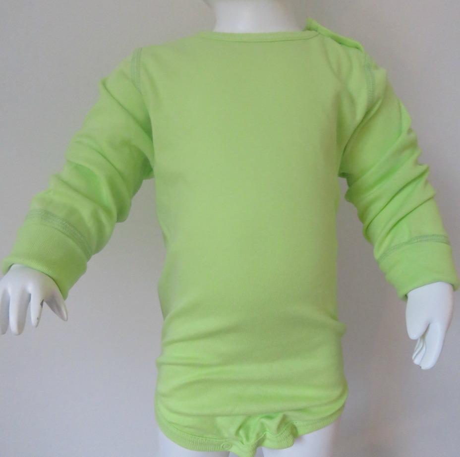 Body långärm limegrön