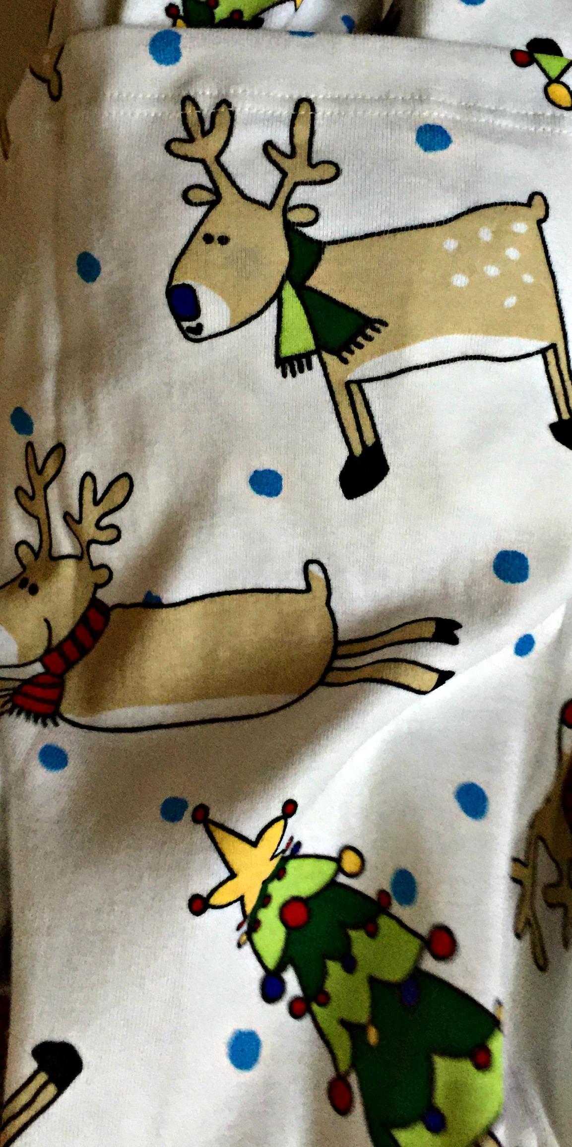 Pyjamas barn julmotiv närbild