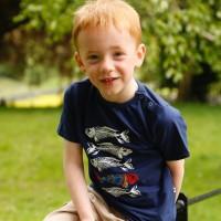 Barntröja marinblå