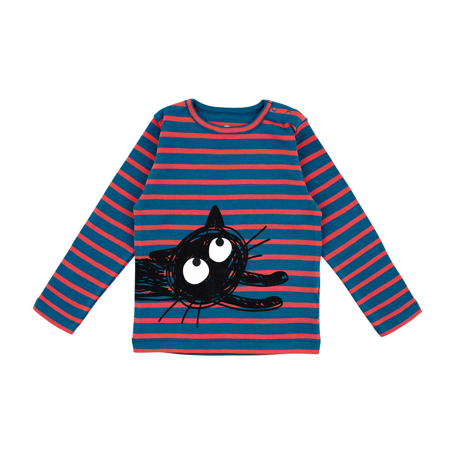 Barn t-shirt långärmad randig