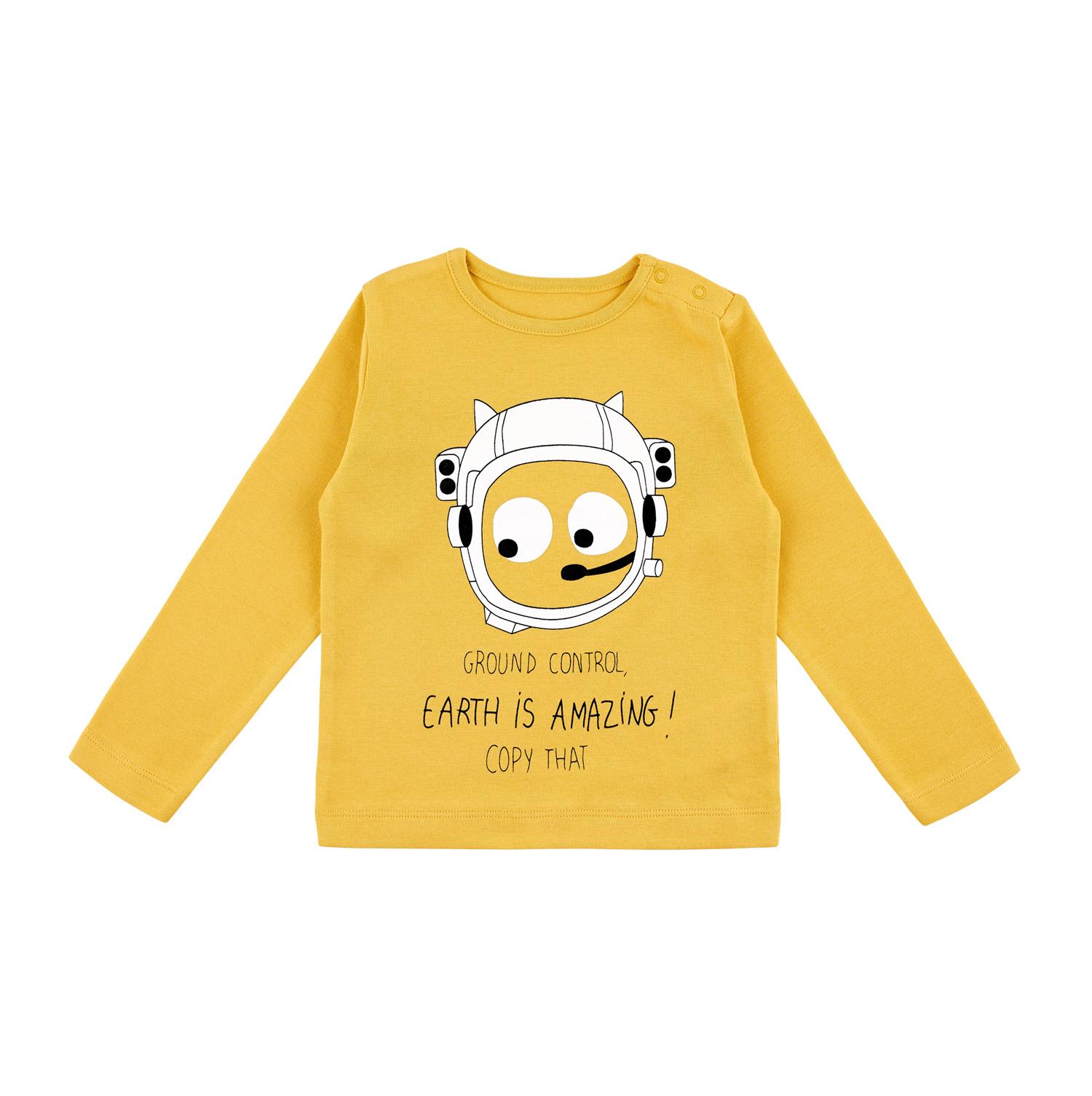 Barntröja långärmad gul