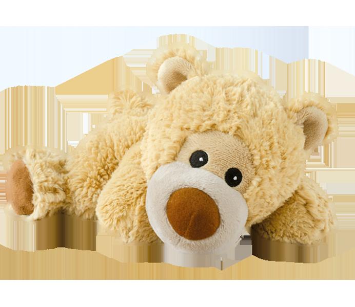 Warmies mjukisdjur liggande björn värmekudde
