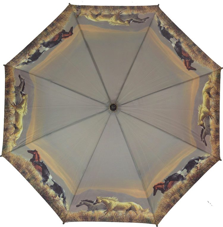paraply hästmönster