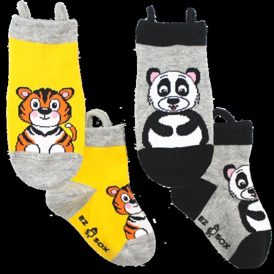 strumpor barn tiger panda