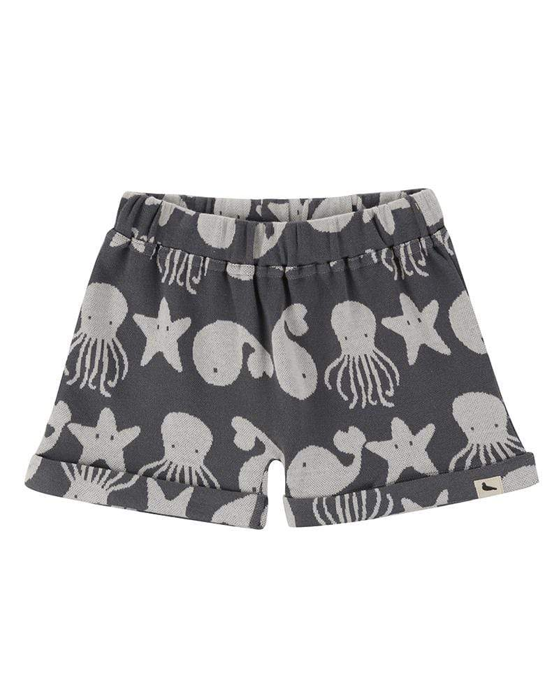 HTD405.shorts för barn ekologisk bomull sea friends