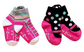 Ezsox barnstrumpor -Sneaker/ballerina 2-pack (19-22) - 2-pack barnstrumporballerina 19-22