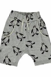 Småfolk Shorts Pingvin Grey - 98/104cl - Småfolk shorts pingvin 98/104cl