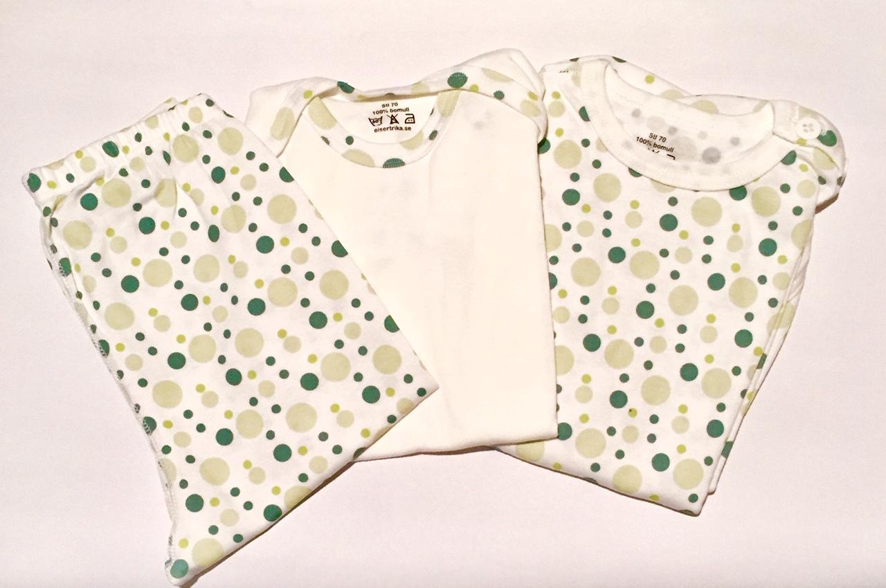 gröna bubblor body 2 byxa