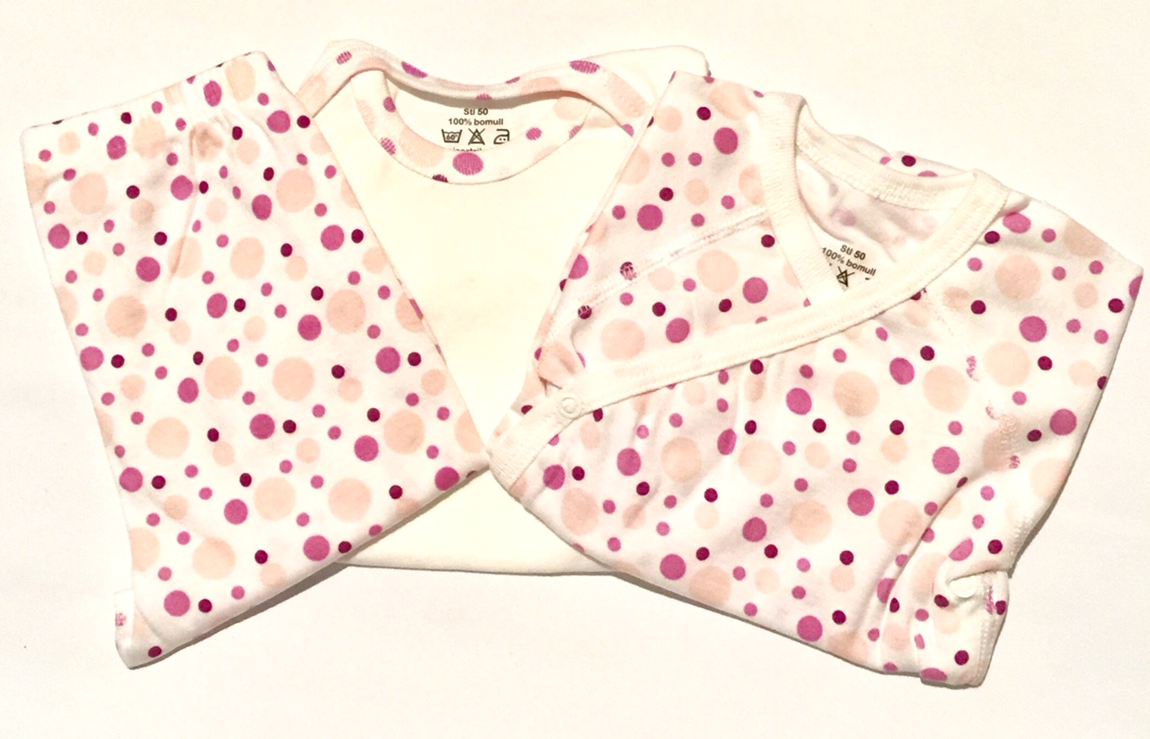 klädpaket rosa bubblor body 2 pants