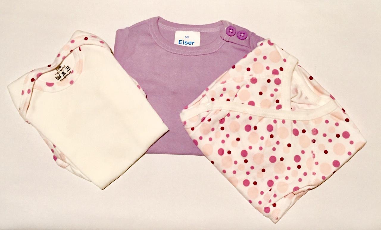 klädpaket rosa x3 body lila