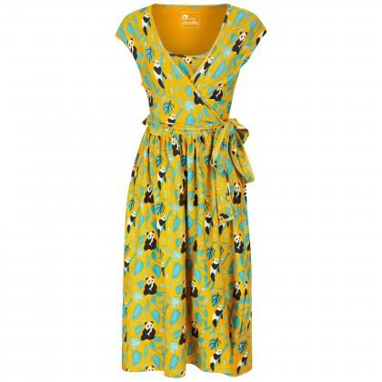 Omlottklänning gul panda