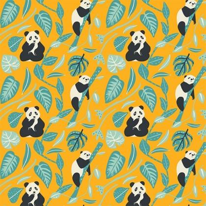 mönster barntröja panda
