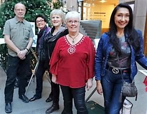Staffan Öberg, Birgitta Andersson Backlund, Lill Viljesten, Anita Hammarstedt och Lourdes Daza-Gillman på Söderhallarna