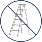 INGEN STEGE Vårt system installeras säkert från marken utan stege